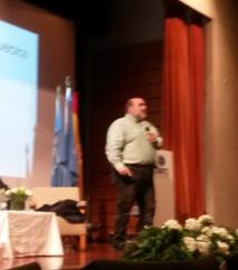 Víctor Valencia, durante su intervención. Foto: E&E.