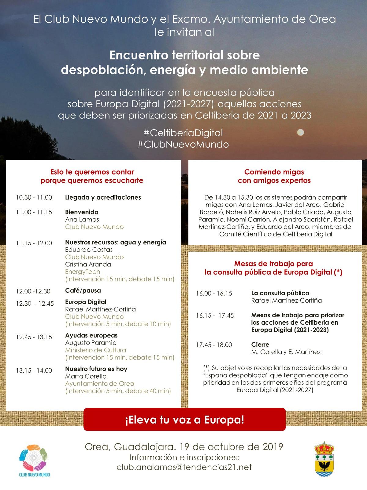 La España Vaciada acude mañana a Orea para una cita con Europa Digital