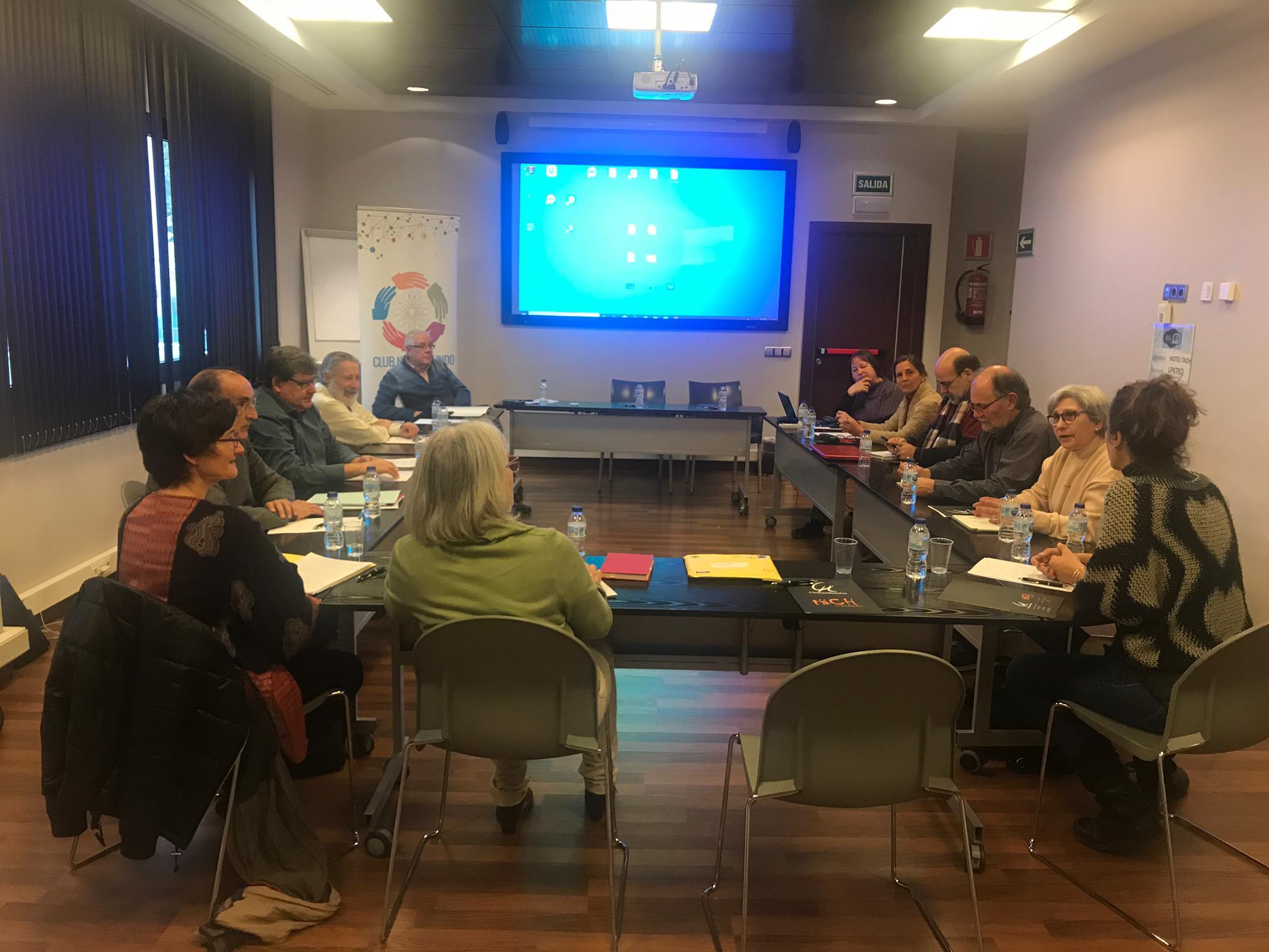 Momento de la reunión del 26 de noviembre. Foto: Francisco Lobato.